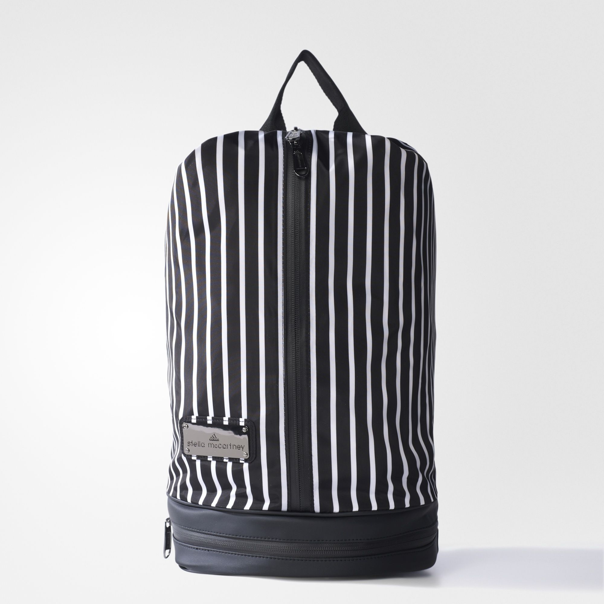 Carried as a gym bag or a backpack, the adidas by Stella