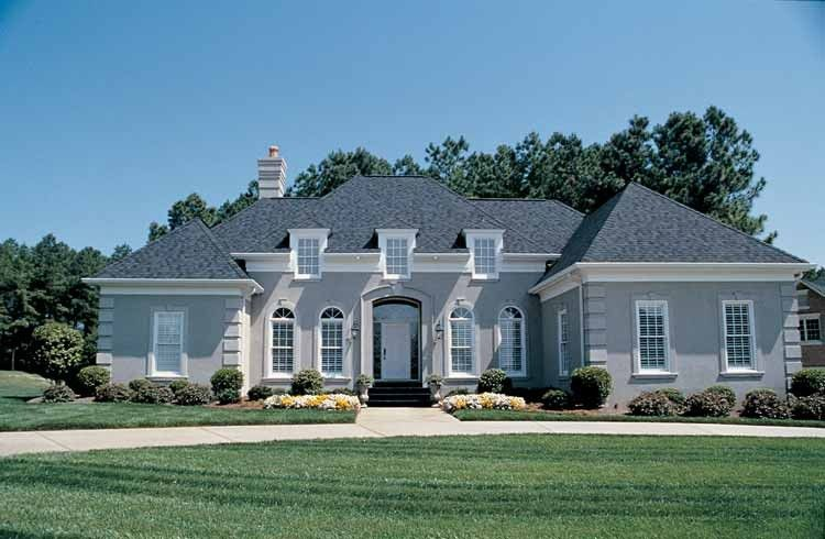 European Style House Plan 3 Beds 2 5 Baths 2500 Sq Ft Plan 453 30 French Country House French Country House Plans French Country Fireplace
