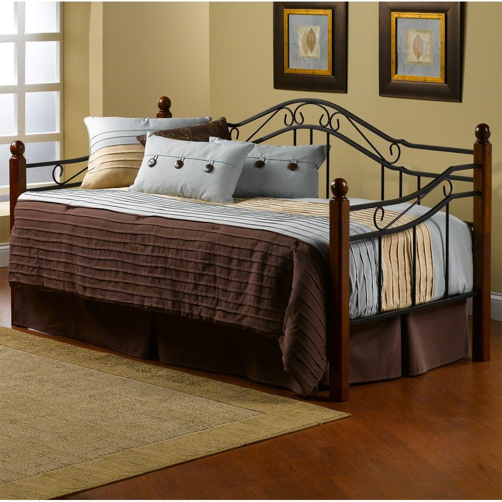 Madison Iron Wood Daybed in Black Cherry DAYBEDS SLEIGH BEDS