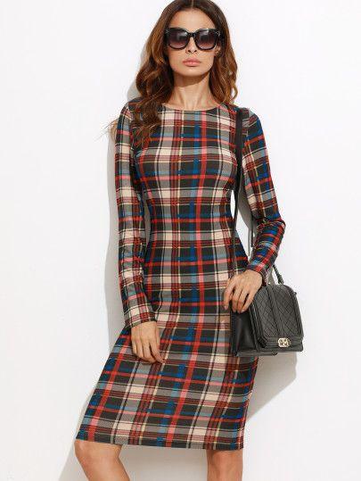 Bleistift Kleid langarm -bunt | clothes | Pinterest | Kleider, Kleid ...
