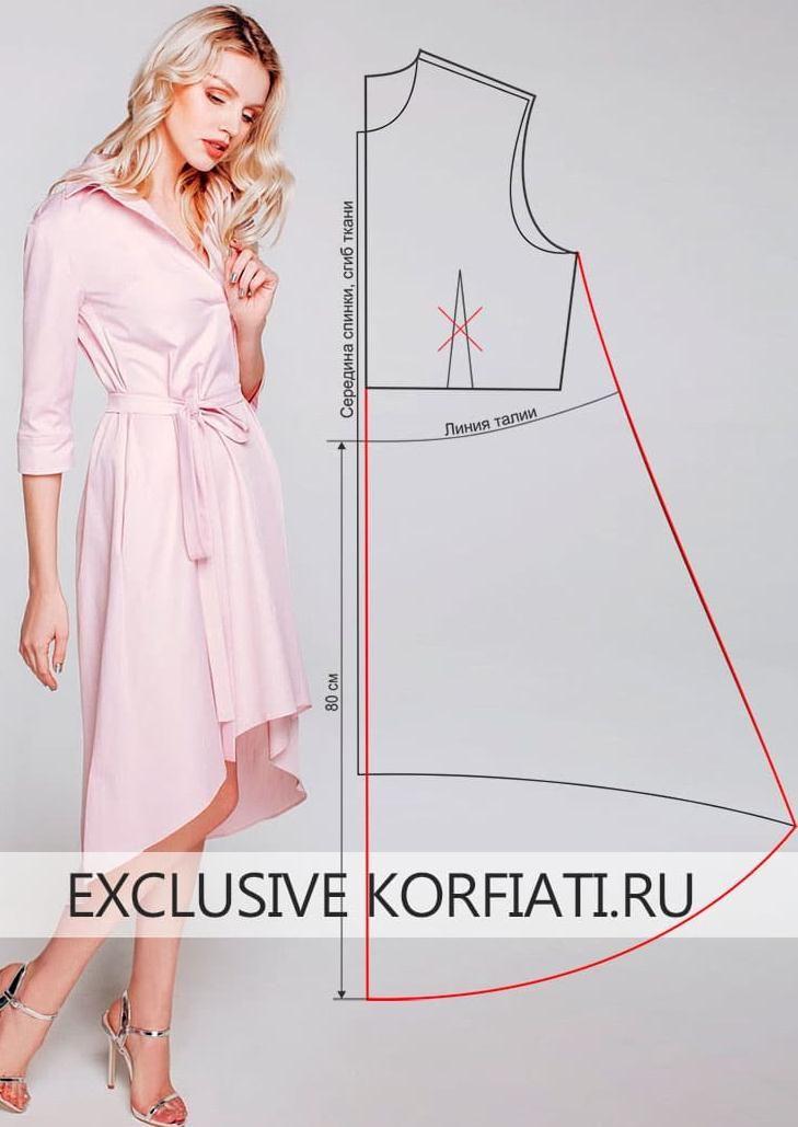 Como hacer patrones de vestidos casuales asimétricos de manera ...