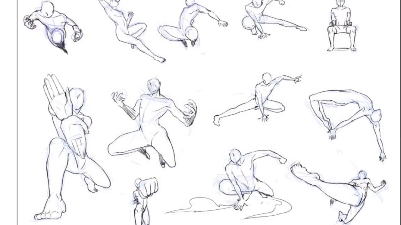 Dynamic Drawing Fighting For Free Download Battle Poses Drawing In 2020 Anime Poses Reference Fighting Poses Anime Poses