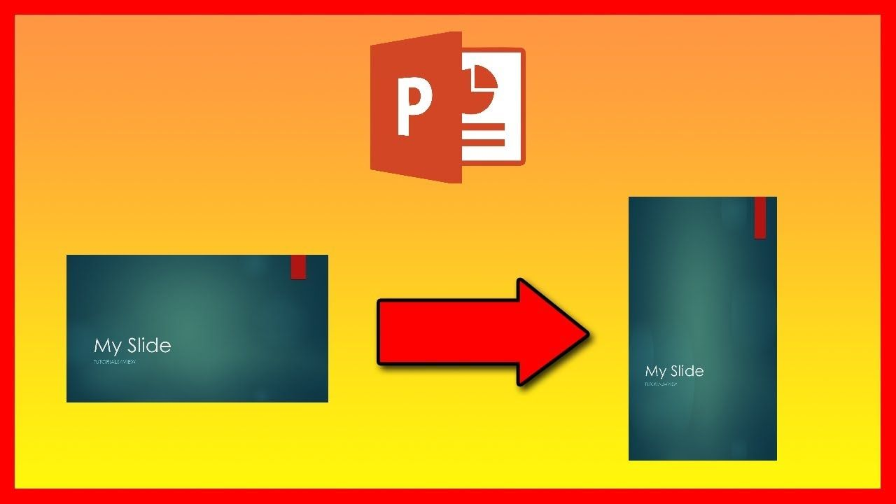 How To Change From Landscape To Portrait In Powerpoint 2016 Powerpoint Videos Tutorial Tutorial