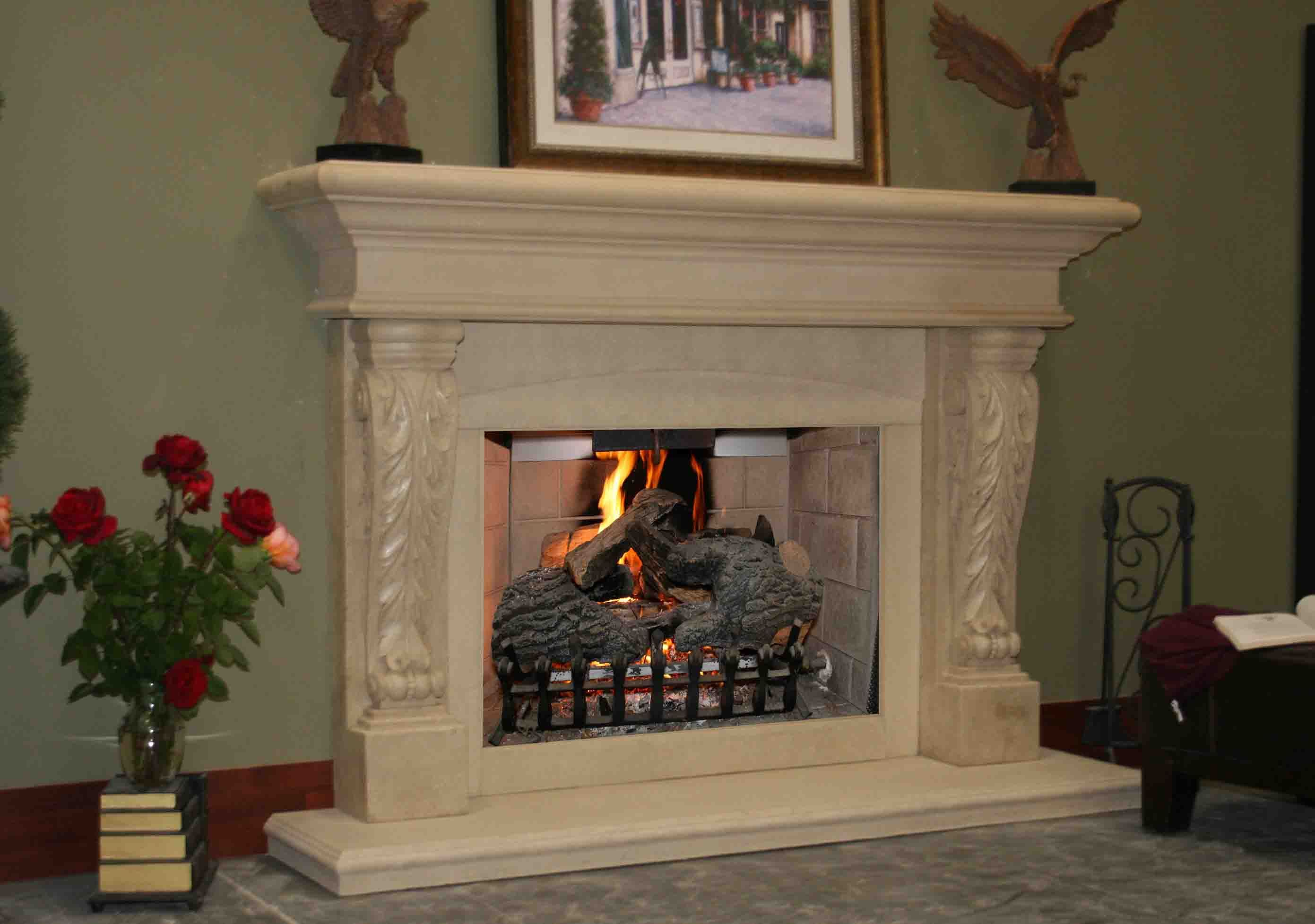 stone lighting mantel family wooden room mantels with recessed design all ideas images floor cool decor fireplace kits for and interior mantles your