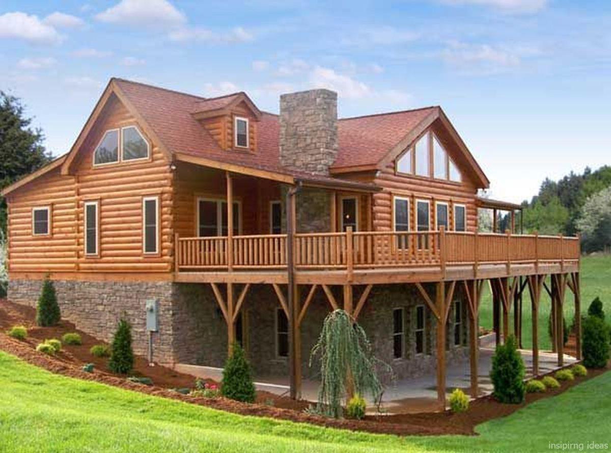 Stunning log cabin homes plans ideas also best design exterior  rh pinterest