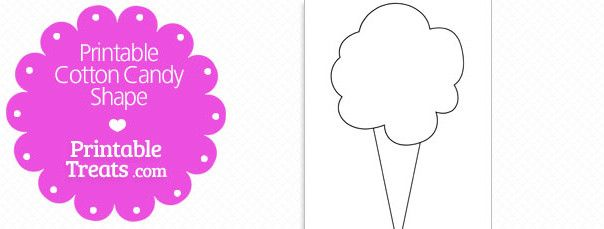 Free Printable Cotton Candy Shape Cotton Candy Crafts Templates