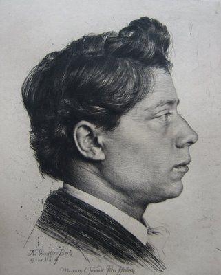 Karl Stauffer-Bern  Peter Halm  Etching,1887