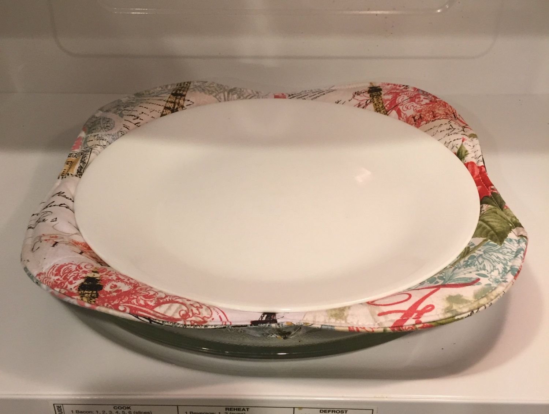 Microwave Plate Cozy Microwave Plate Holder Potholder Plate Holder Casserole Microwave & Microwave Plate Cozy Microwave Plate Holder Potholder Plate ...