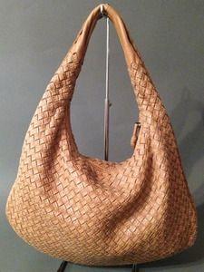 Bottega Veneta medium tan hobo bag with stitch detailing available at The  Real Snob luxury consignment Vancouver 173bebb74b