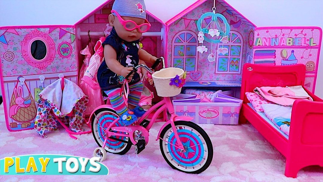 Baby Born Dolls Get On Their Toy Bikes And Scooter Some Are By Our