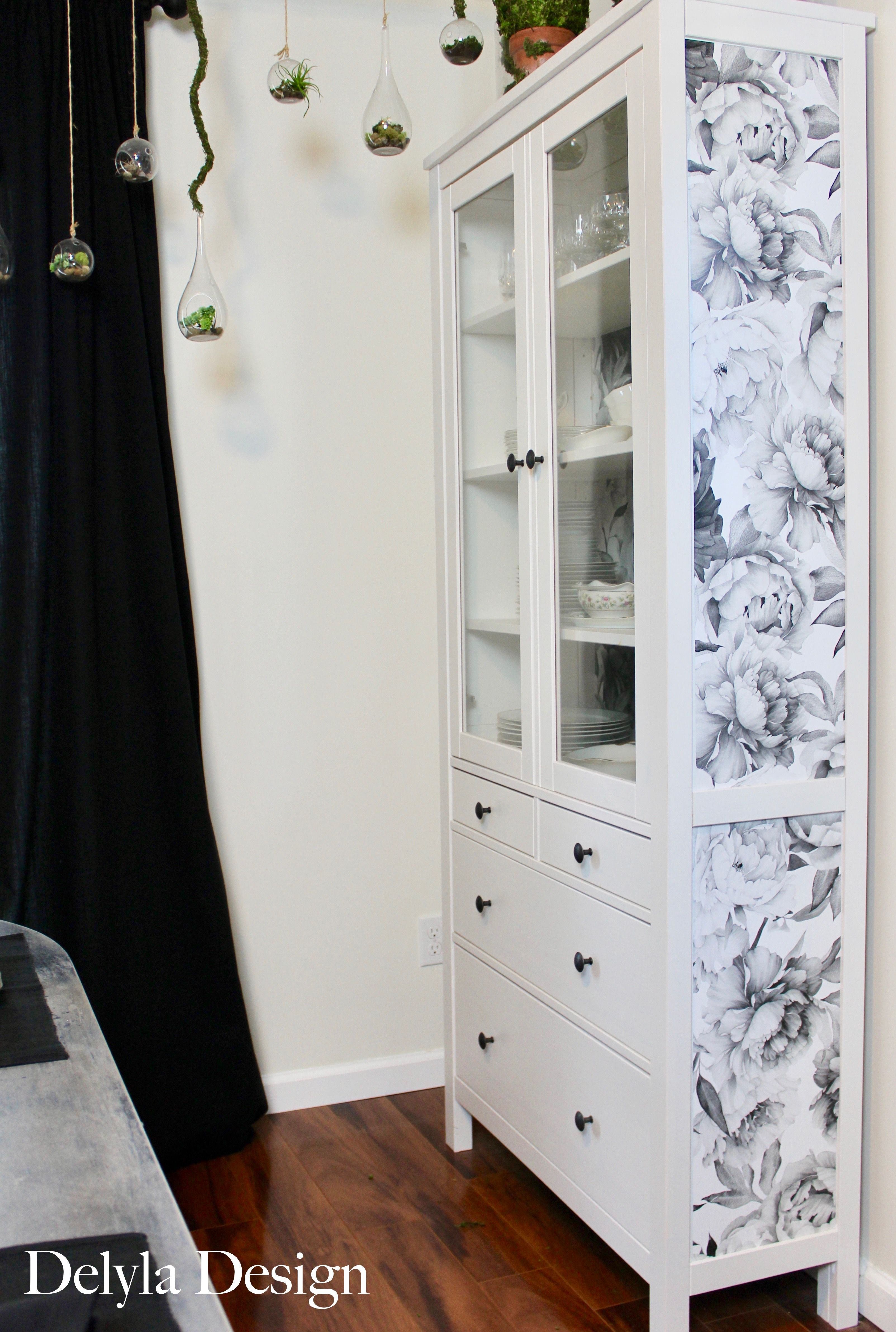 Easily Update Your Furniture And Walls With Removable Wallpaper No Painting Involved Follow Alon Furniture Hacks Ikea Furniture Hacks Ikea Furniture Makeover