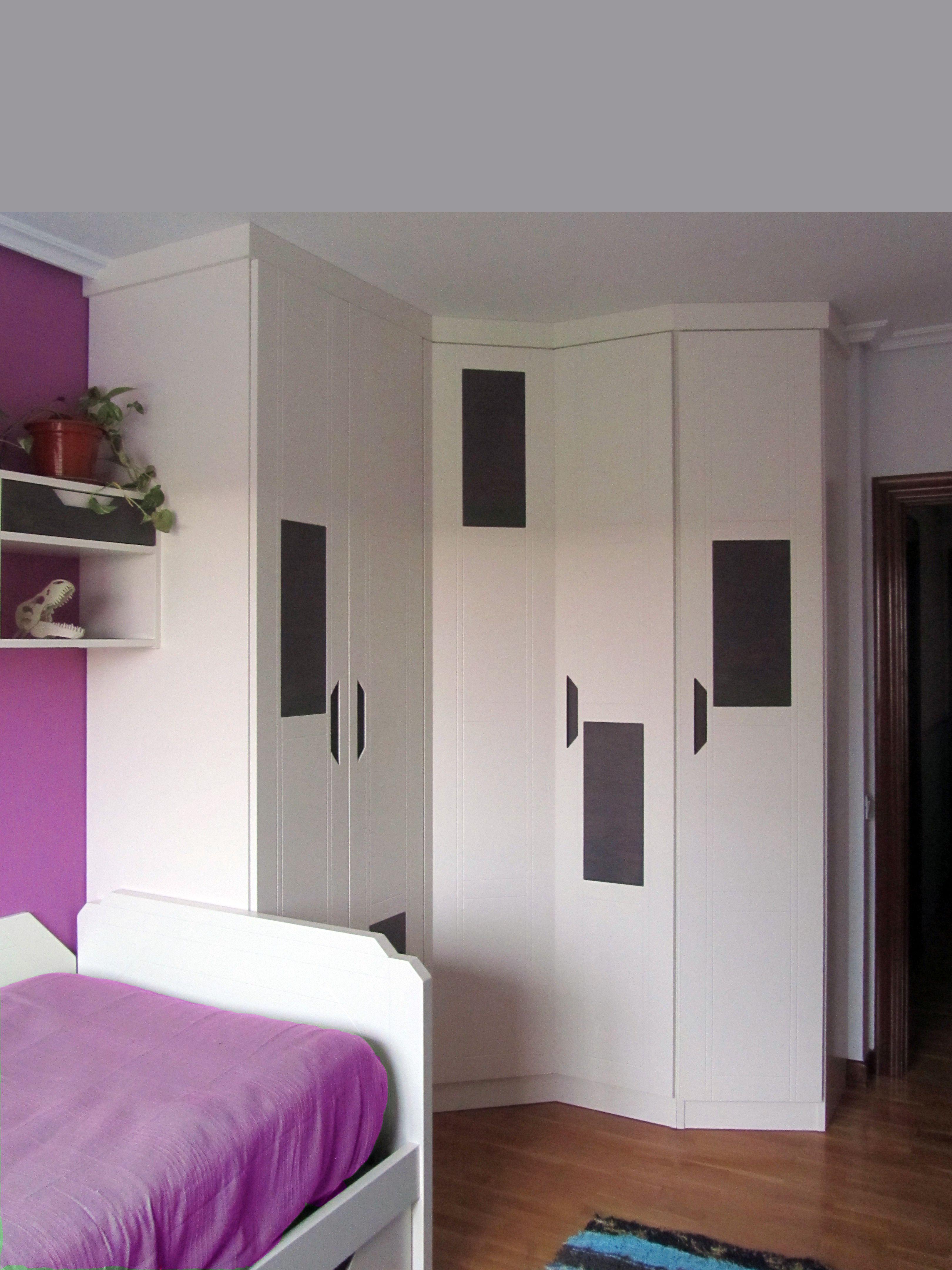 Dormitorio Juvenil A Medida 100 Lacado Detalle Del Armario Rincon
