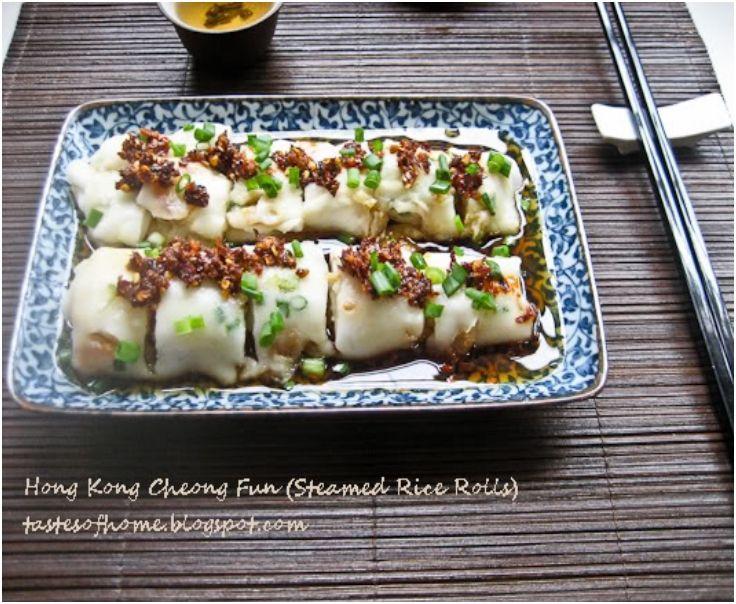 hong kong cheong fun steamed rice rolls  food food