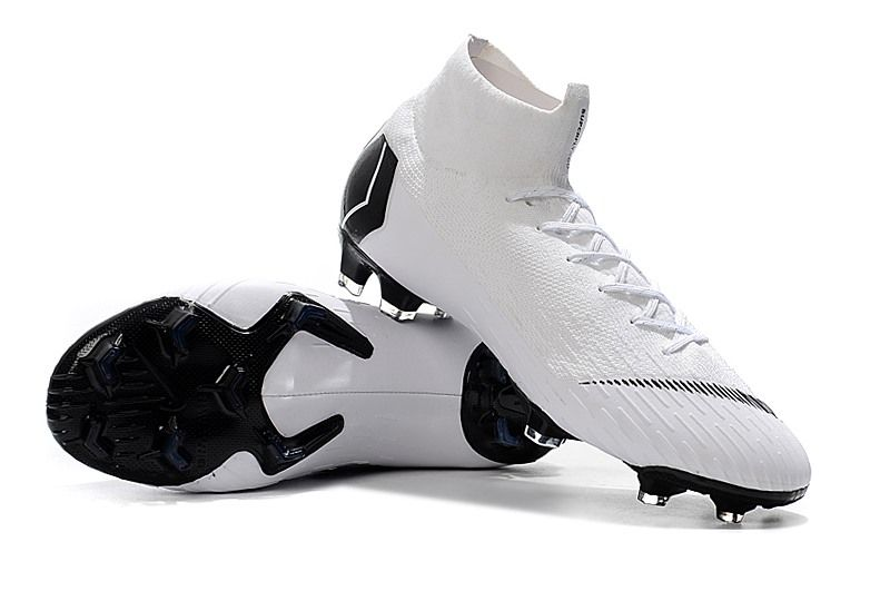 more photos 7a363 2b806 Nike Mercurial Superfly VI Elite FG Botas de Futbol - Blanco Negro