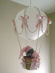 Hot Air Balloon Lamp Light Shade With Tatty Teddy Pink
