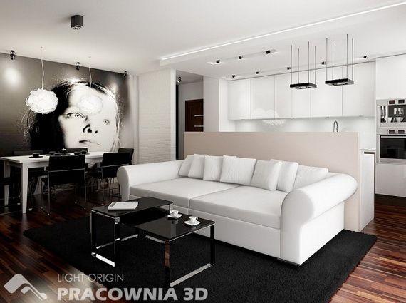 Ideen-kleine-Wohnung-wohnzimmer-essbereich-offene-küche Home sweet