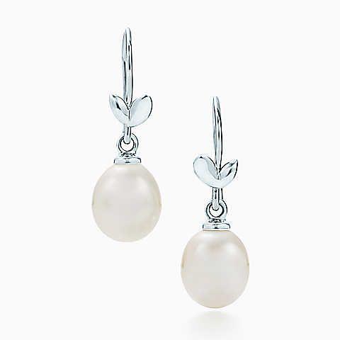Paloma Picasso® – Olive Leaf – Ohrhänger, Sterlingsilber mit Perlen.