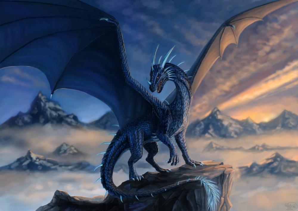 Blue dragon Commission by xCelebrilx on DeviantArt