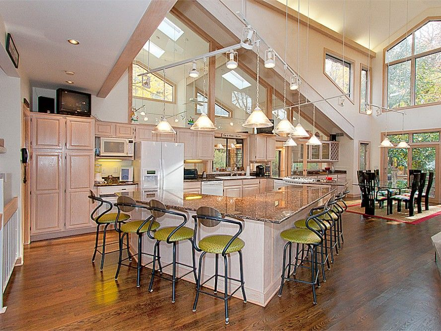 open floor plan design ideas kitchen designs awesome open kitchen floor plans with bar - Open Floor Plan Design Ideas