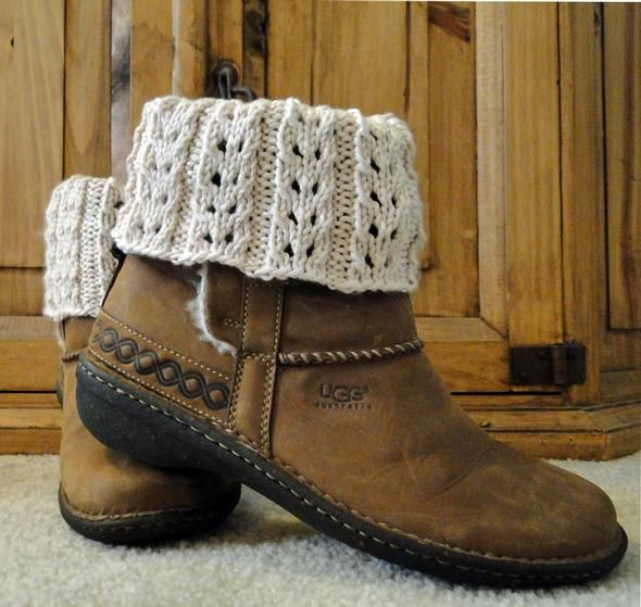 Eyelet Ivory Boot Cuffs A A Knit Boot Socks Cuffs Or Toppers
