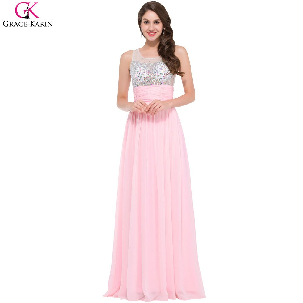 Click to buy ucuc vestidos grace karin pink long prom dresses see