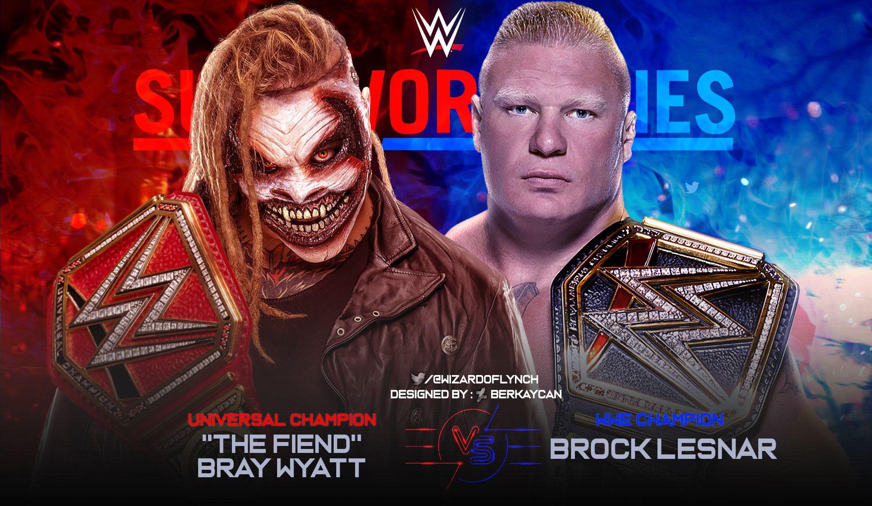 The Fiend Bray Wyatt Vs Brock Lesnar Survivor Series Match Card Bray Wyatt Brock Lesnar Wyatt