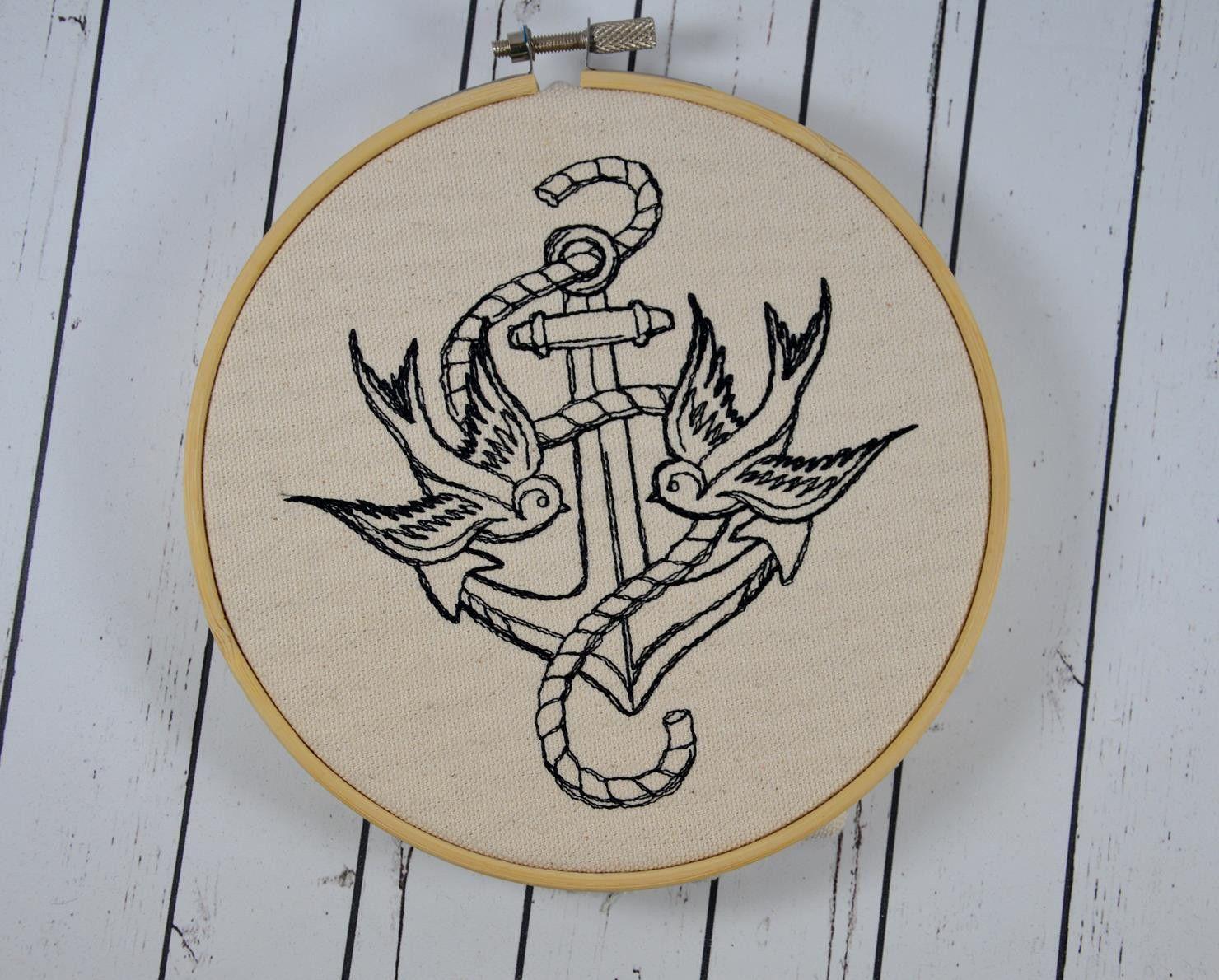 Pagan and Zodiac Wall Art, Embroidered Hoop Art | Stricken und ...