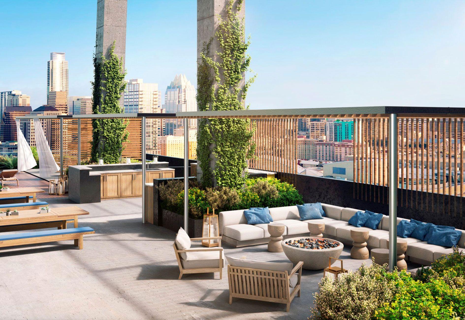 70 Rainey Markzeff Design Rooftop Patio Luxury Apartment Building Outdoor Decor