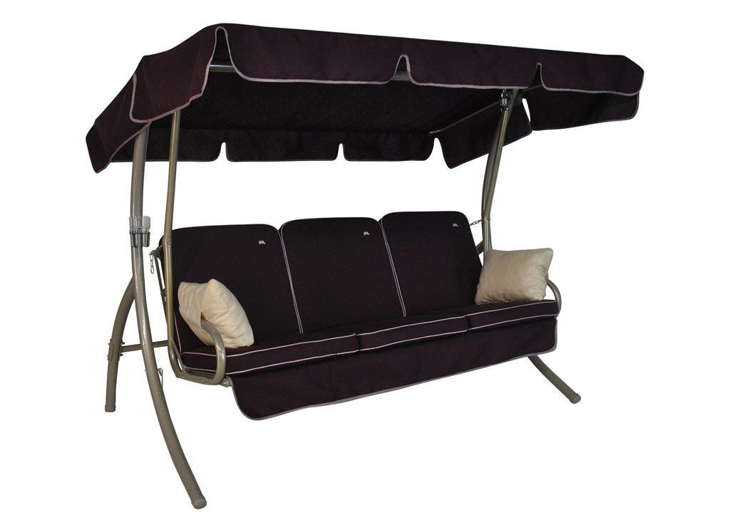 Comfort Style Hollywoodschaukel 3 Sitzer Design Style Lila