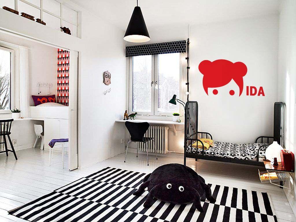 Slaapkamer Rood Zwart : Kinderkamer in zwart wit met rood kidsroom black and white