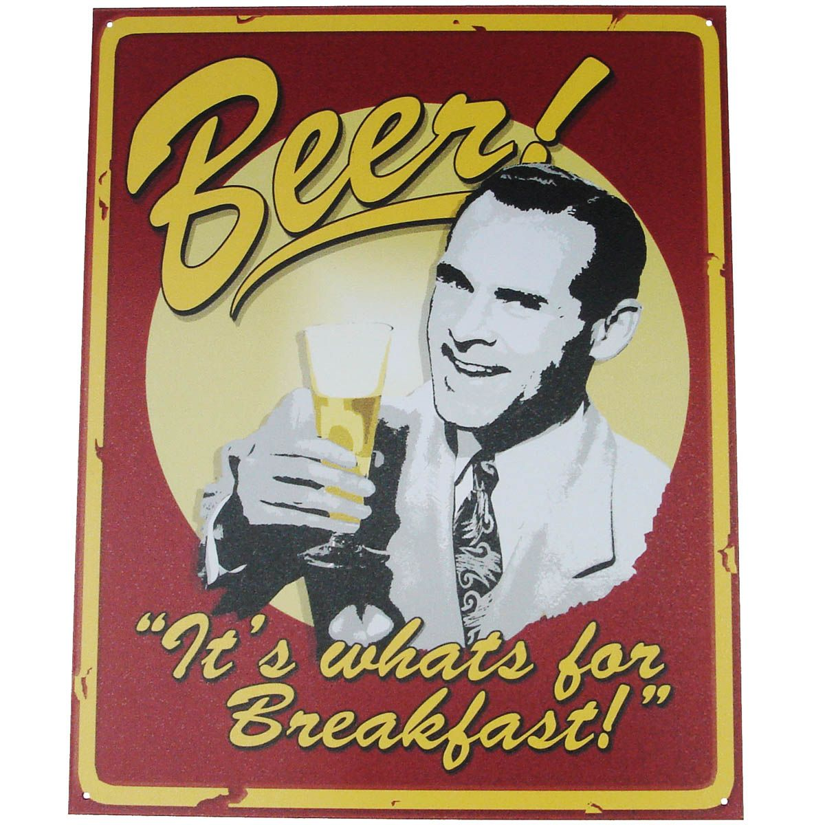 A3 BEER RETRO POSTER SPOOF THICK CARD BOARD SIGN VINTAGE BAR PUB WALL ART DECOR