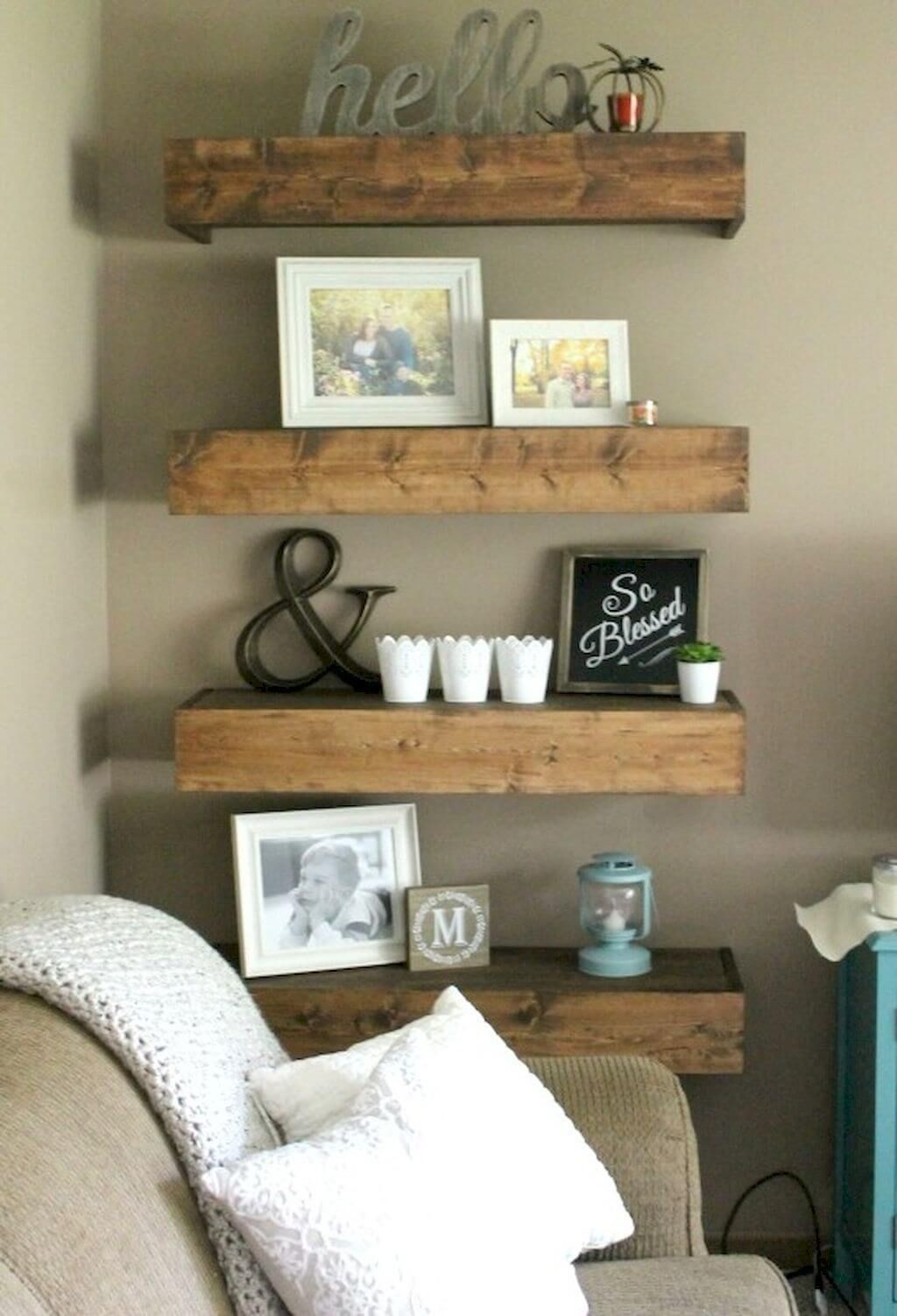 26 Farmhouse Shelf Decor Ideas That Are Both Functional And
