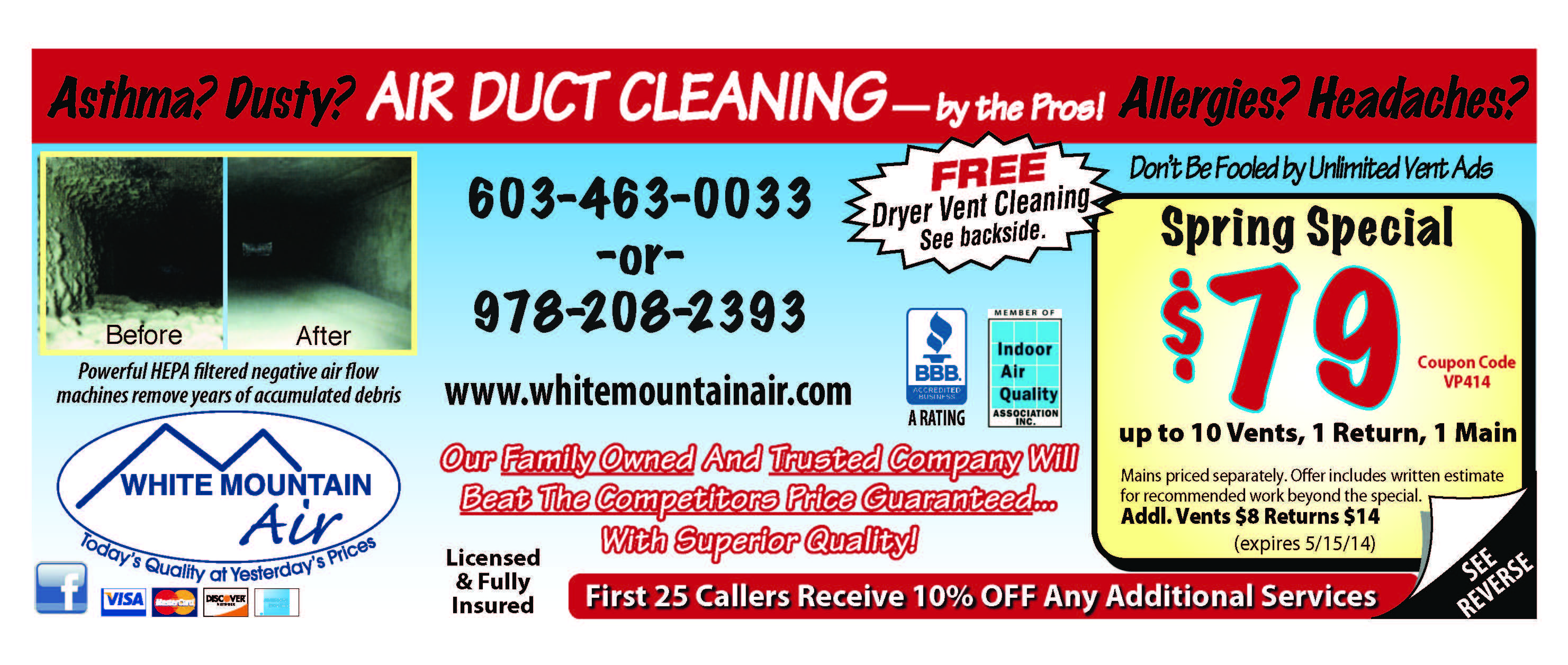 White Mountain Air Coupons Home and Garden Coupons of