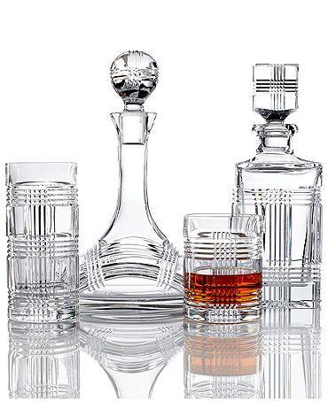 Ralph Lauren Glen Plaid Crystal Decanter Set