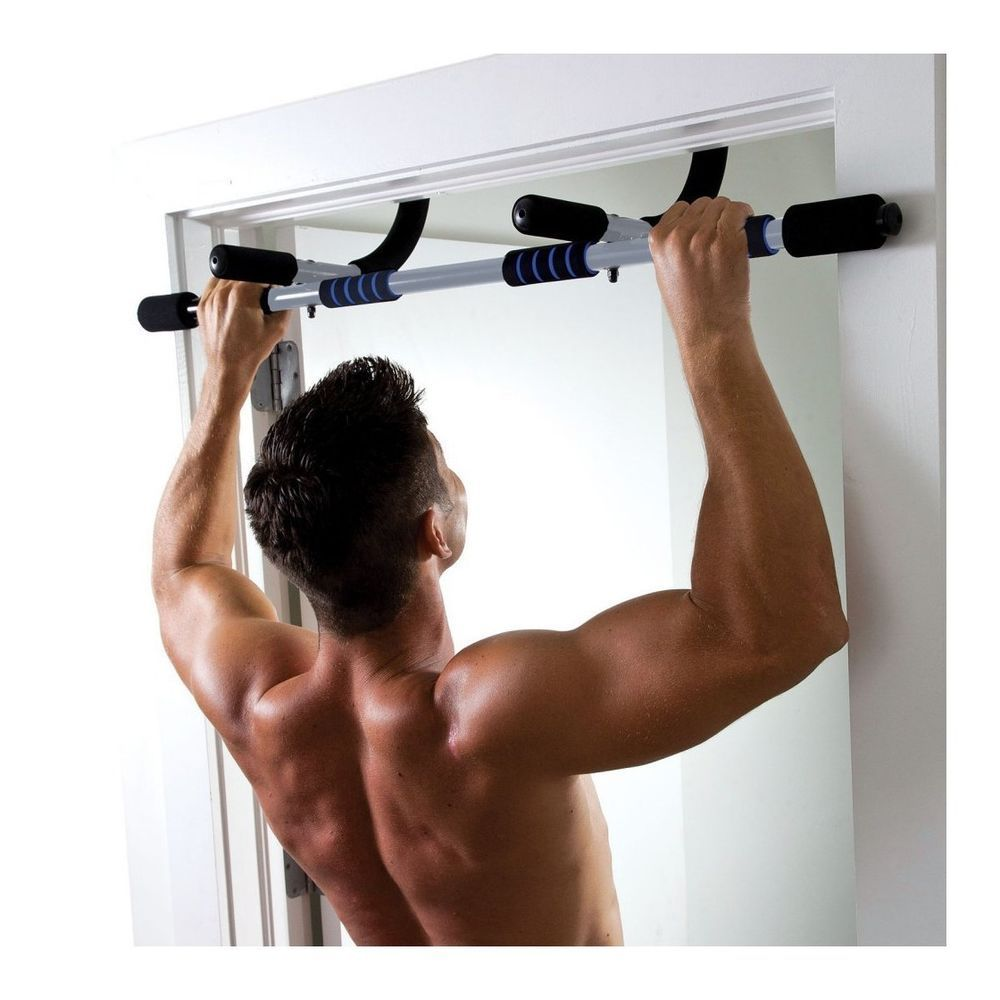 multi purpose workout bar exercise portable pull chin up dips door rh pinterest com