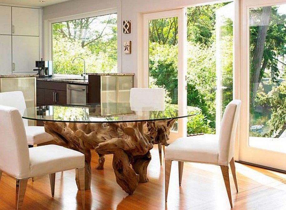 Kitchen Dining Tables Oak Root Leg Round Glass Dining Table Small Amusing Designer Kitchen Tables Inspiration Design