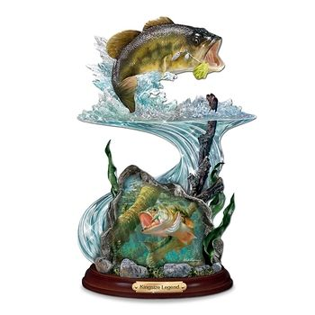 Largemouth Bass Sculpture: Kingsize Legend in Fall 2012 from Bradford Exchange on shop.CatalogSpree.com, my personal digital mall.