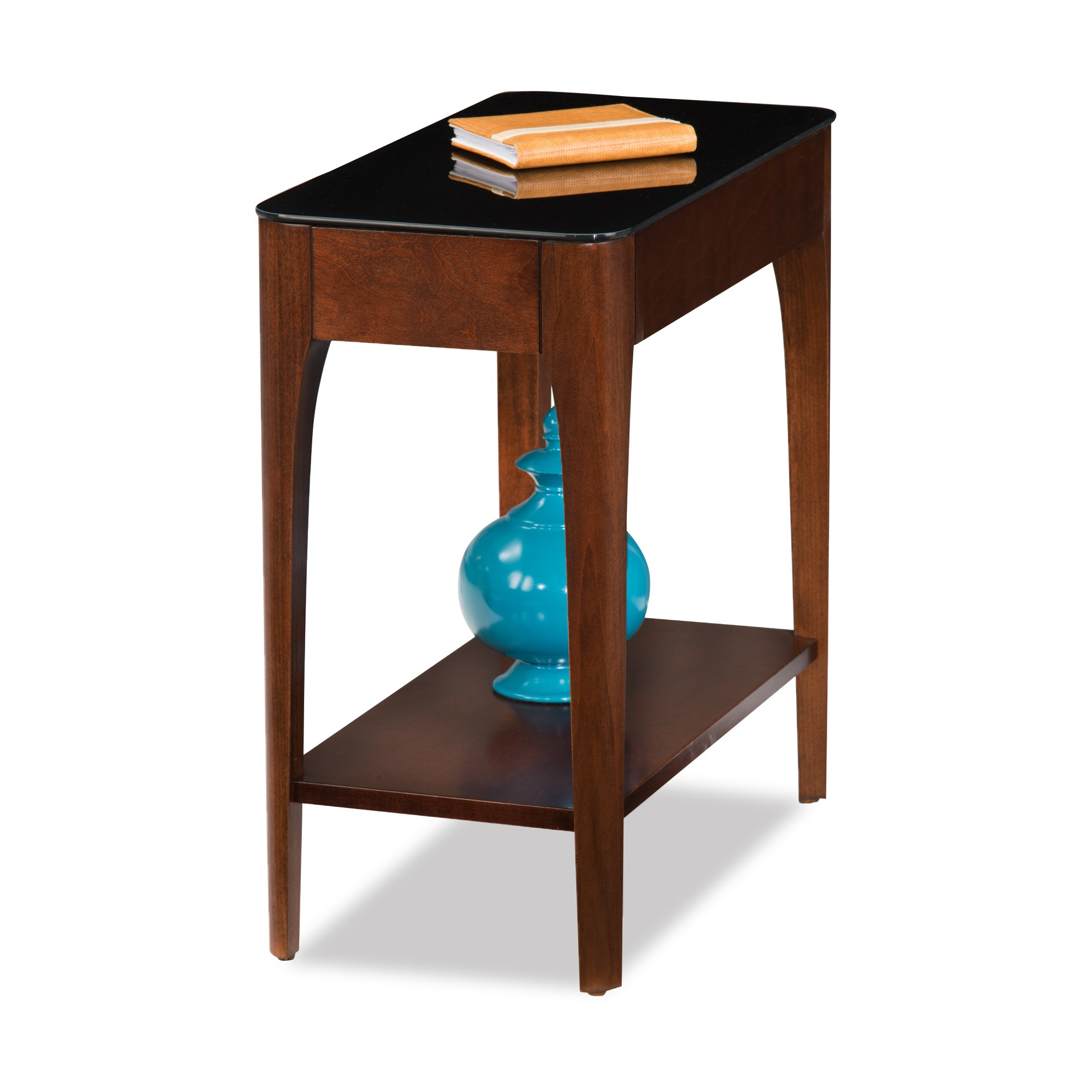 Obsidian Narrow Chairside Table Chestnut Leick Home Chair Side Table End Tables Furniture