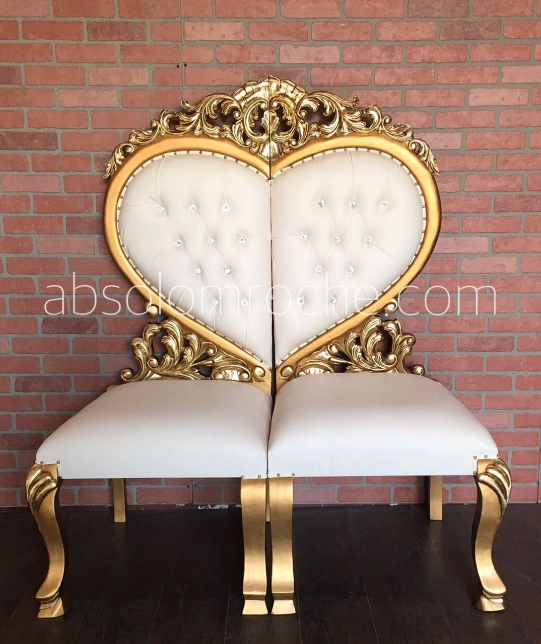 Htx Bridal Show Sale 50 Off Two Piece Heart Shaped Seating Gold White Bedroom Decor Lights Rococo Chair Victorian Sofa
