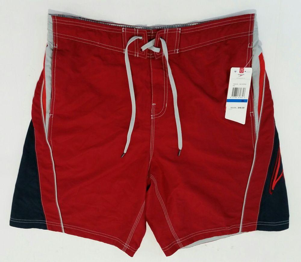 Speedo Mens XL Swim Trunks SpeedDry Beach Shorts Red Pepper Watershorts NWT   48  fashion  clothing  shoes  accessories  mensclothing  swimwear (ebay  link) adb24e3e13e4