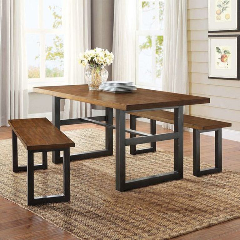 20 Small Dining Room Ideas On A Budget: 20+ Stunning Rustic Table From Pieces Of Wood Ideas