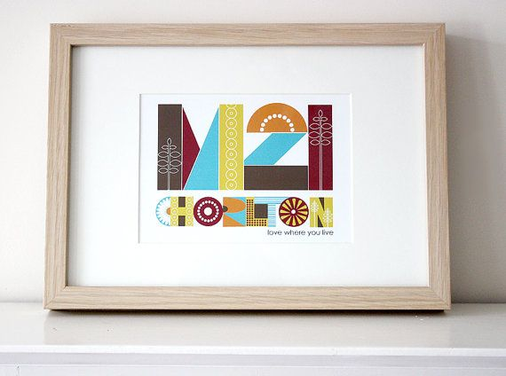M21 Chorlton Print | Chorlton M21, Cheshire, The North West of ...