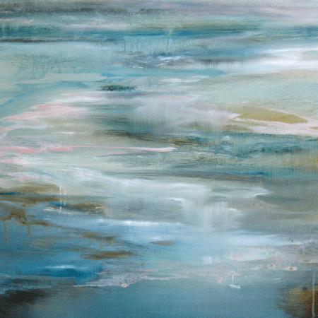 Like the Rain by Lesley Frenz, 2017, acrylic on canvas, 30x24 #abstractart #abstractpaintings #artforsale #artforinteriors