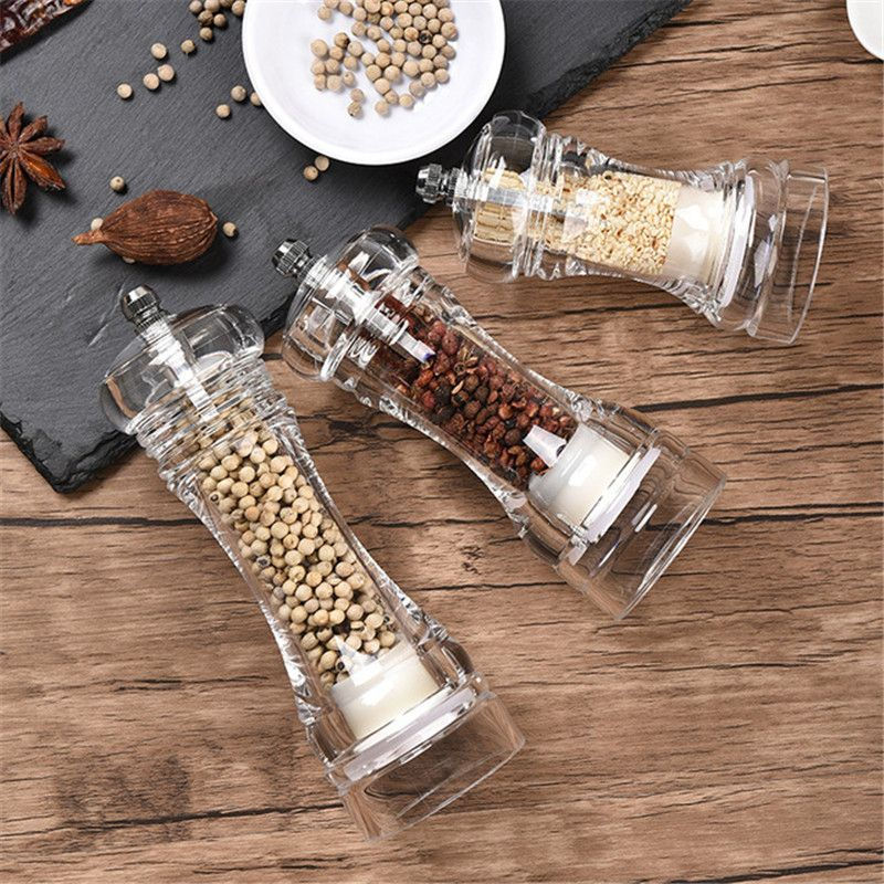 Pepper Grinder Manual Salt and Pepper Mill Salt and Pepper Shakers Acrylic