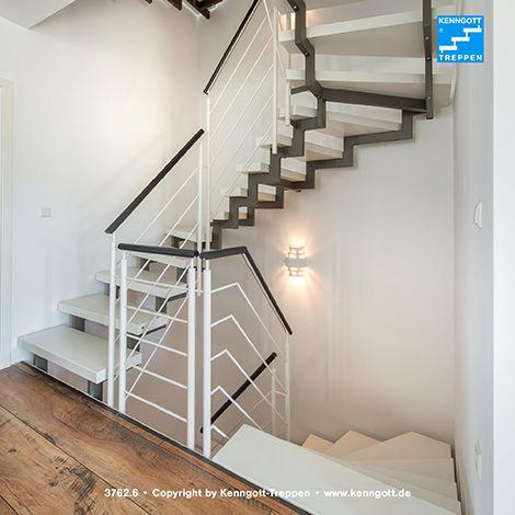 zweiholmtreppe stufenmaterial esche wei longlife rechteckrohrprofile und gel ndertyp 310. Black Bedroom Furniture Sets. Home Design Ideas
