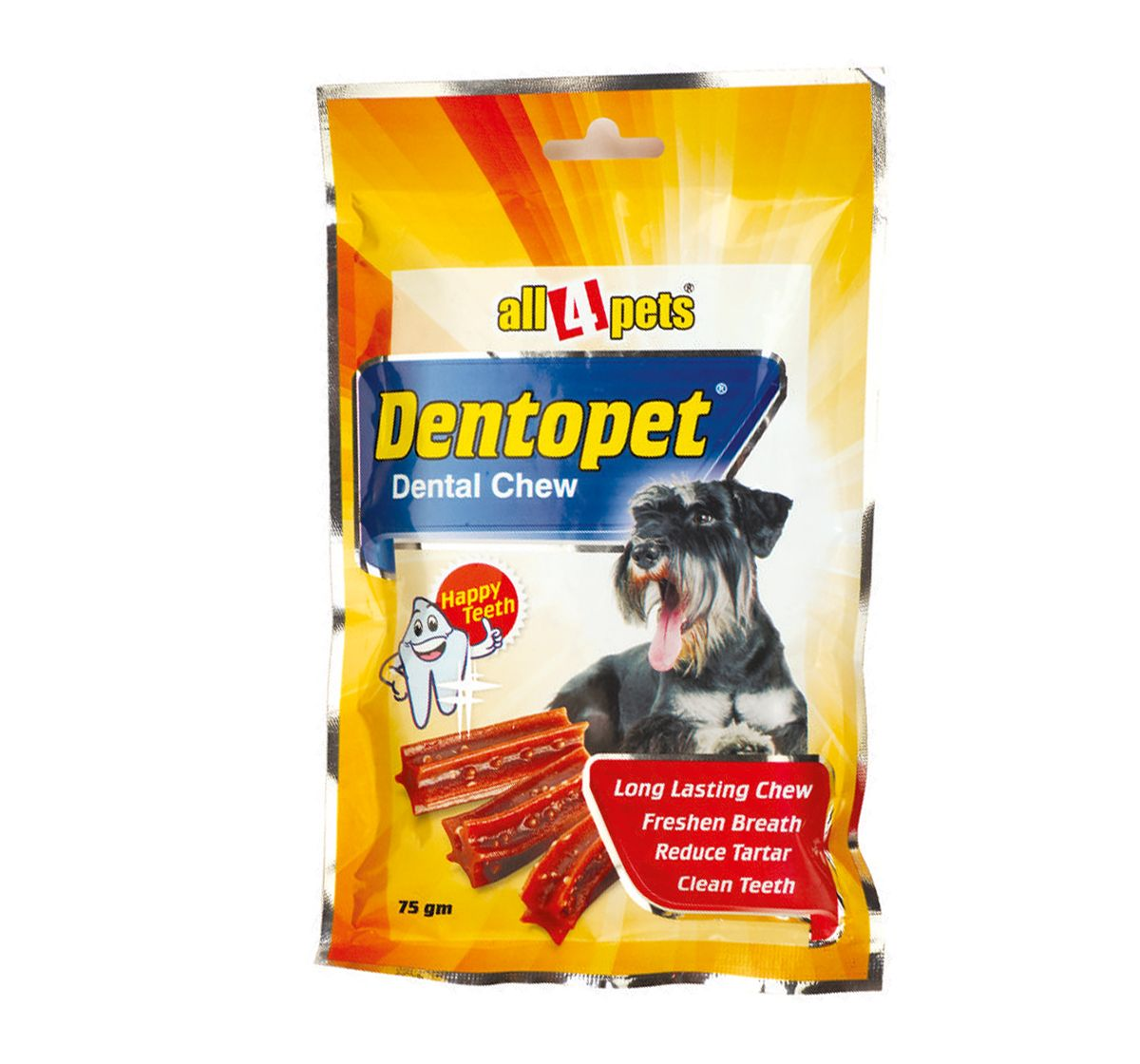 Dog Chew Dentopet 75 Gm Giving Your Pet A Cleaner Teeth And