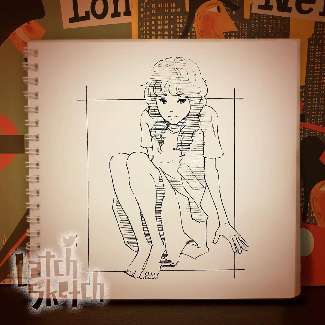 Latch On Instagram しゃがんでる女の子スケッチ Illustration Illust Drawing Sketch Sketchbook Pen Art Graffiti Scribble Scrawl Lan 画像あり スケッチ プロダクトスケッチ 女の子