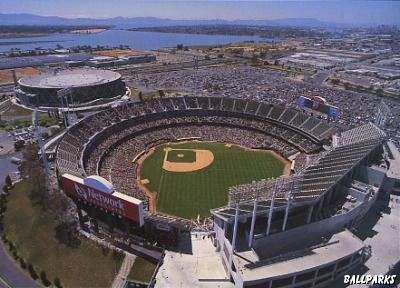 Oakland Ca Mlb Stadiums Oakland Coliseum Oakland Athletics