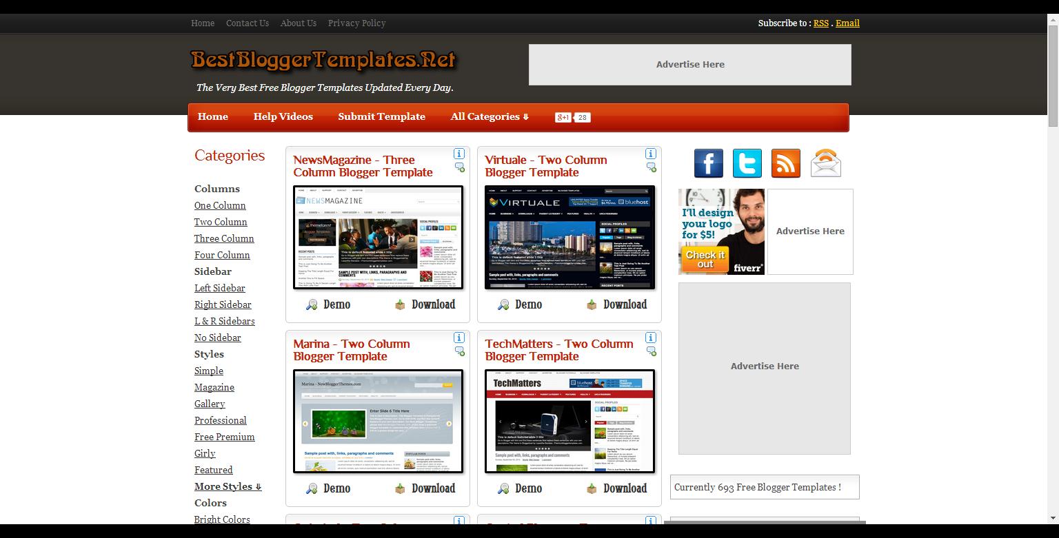 Net blogger templates