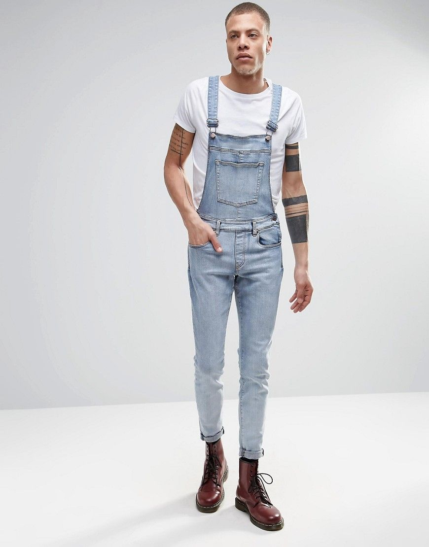 dr denim ira skinny dungaree jeans in blue stone light wash overall pinterest skinny. Black Bedroom Furniture Sets. Home Design Ideas
